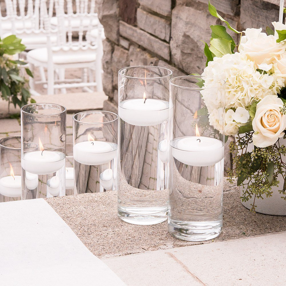 Clear Glass Cylinder Candle Holders Wedding Table Decor