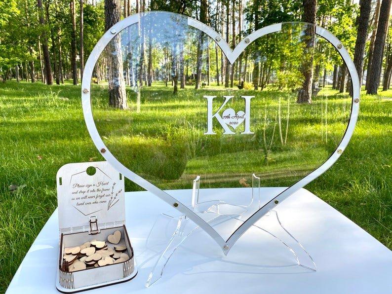 Heart Shaped Drop Box Wedding Guest Book Alternative