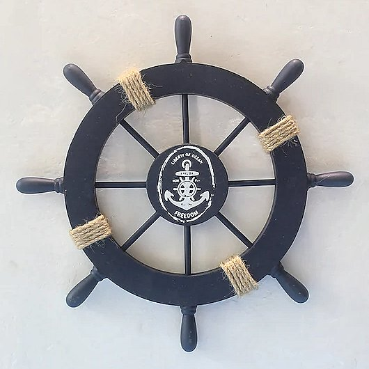 Nautical Wooden Ship Wheel Bridal Shower Decor