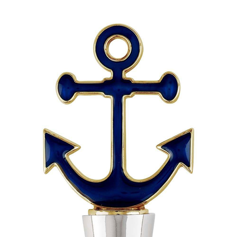 Navy Blue Anchor Bottle Stopper Nautical Bridal Shower Favor