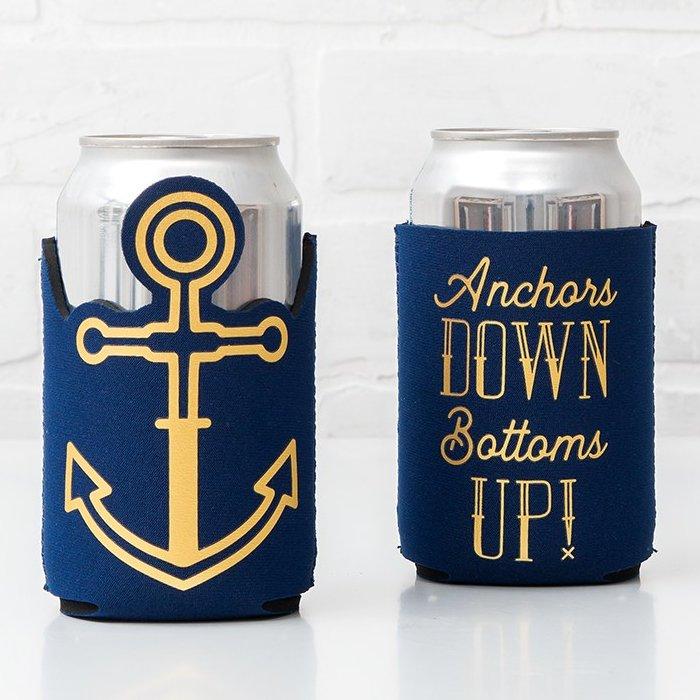 Nautical Themed Bridal Shower Neoprene Foam Drink Holders