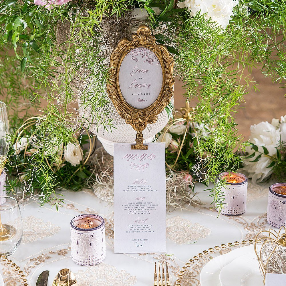 Oval Table Number Standing Frame Wedding Table Decor