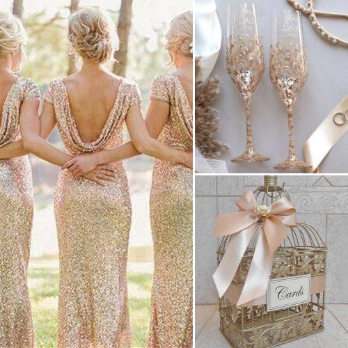 Stylish Blush, Champagne And Gold Wedding