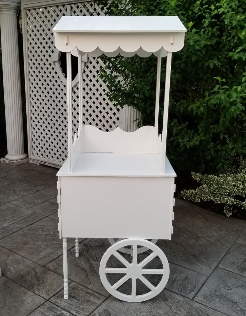 White Candy Cart