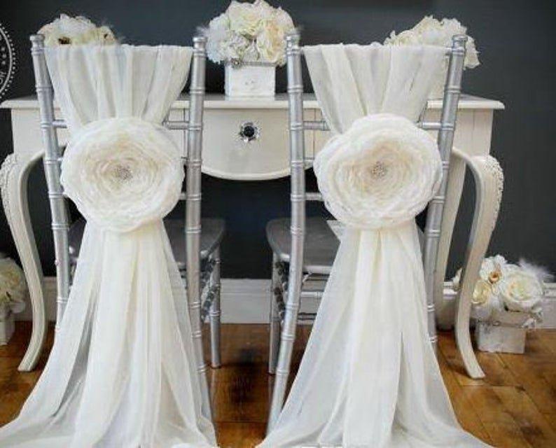 3D Floral Vintage Chair Sashes