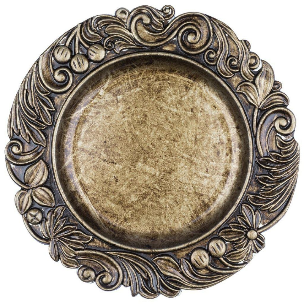 Baroque Gold Acrylic Charger Plate Wedding Table Decor