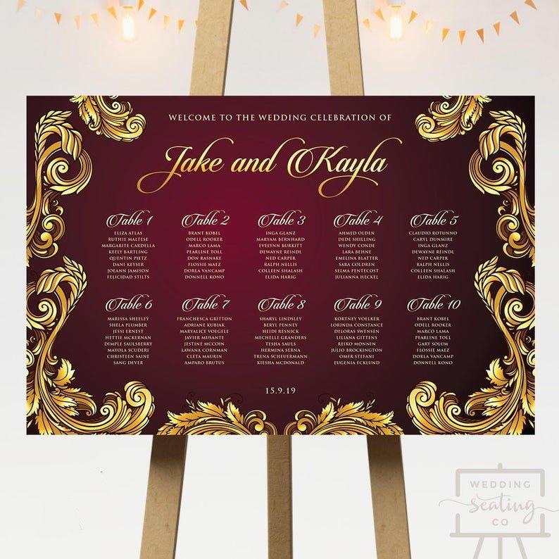 Baroque Wedding Seating Plan