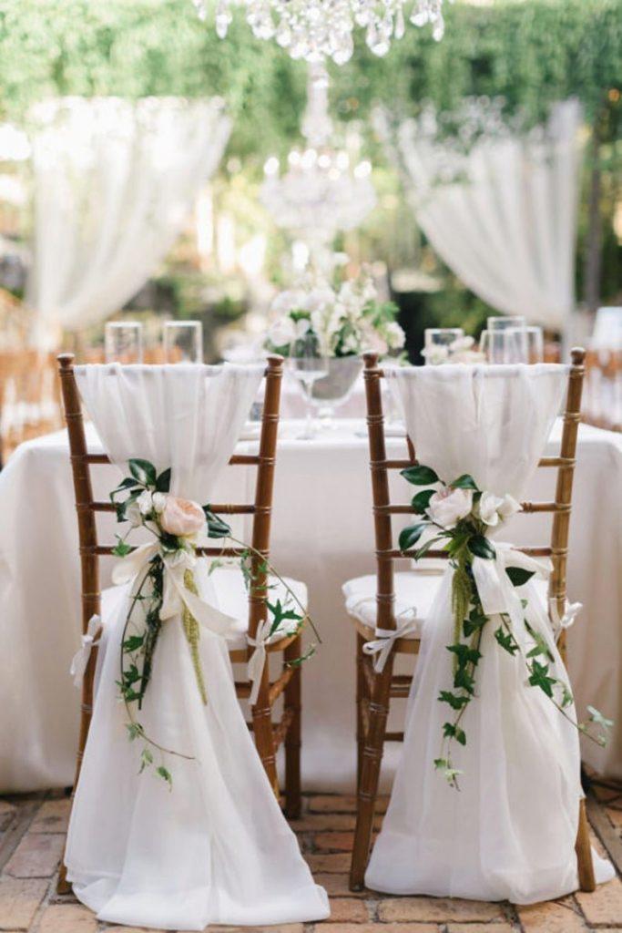 Chiavari Guest Chair Sash Wedding Decor