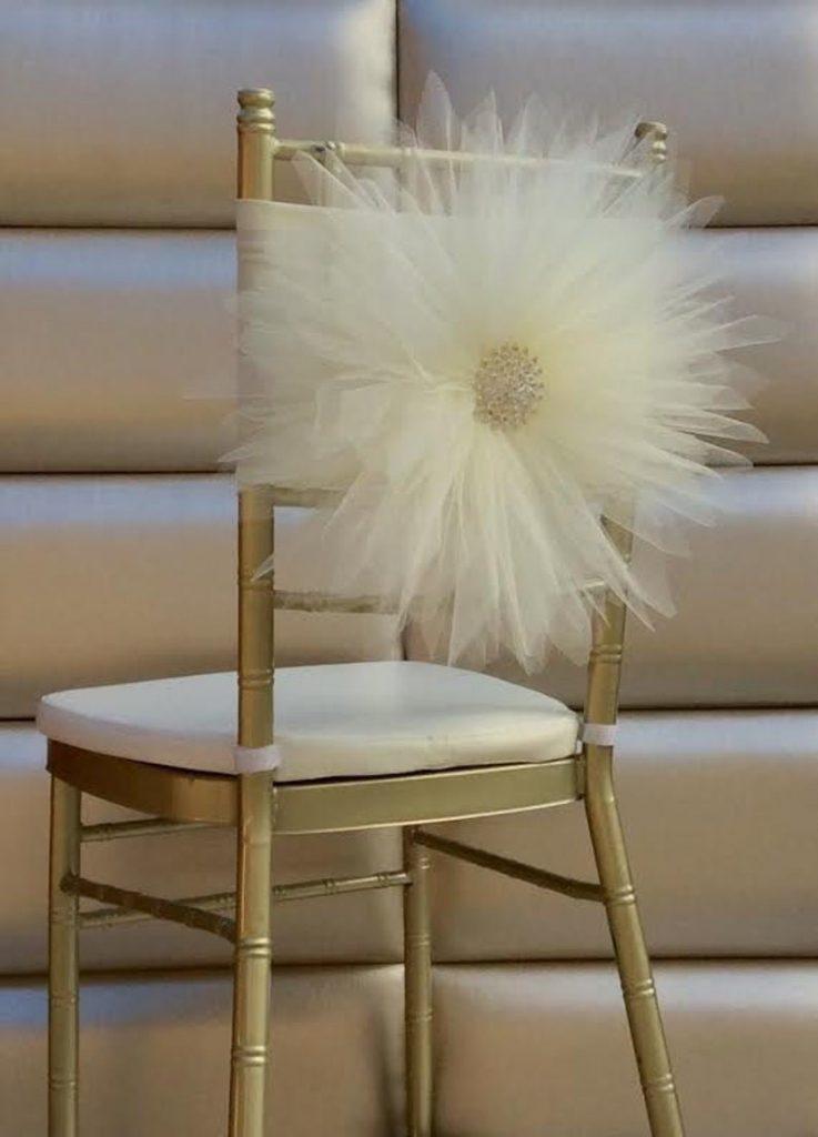 Daisy Tulle Chair Sash