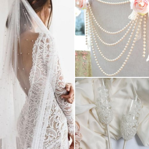 Lace and Pearl Timeless Wedding