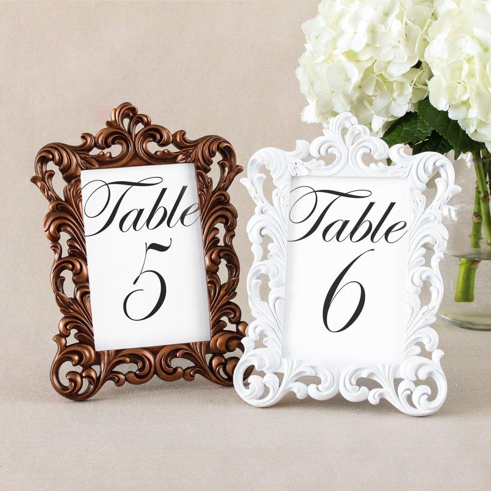 Ornate Baroque  Wedding Table Number Frames