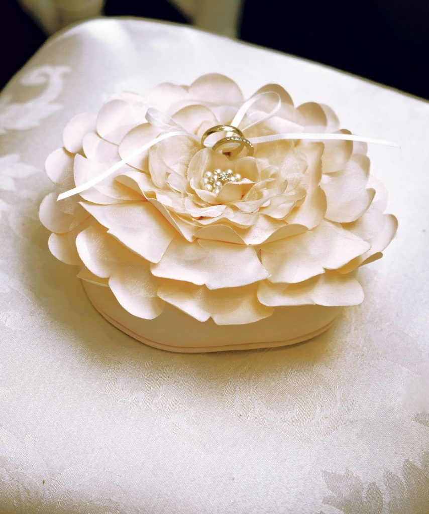 Floral Ring Bearer Pillow