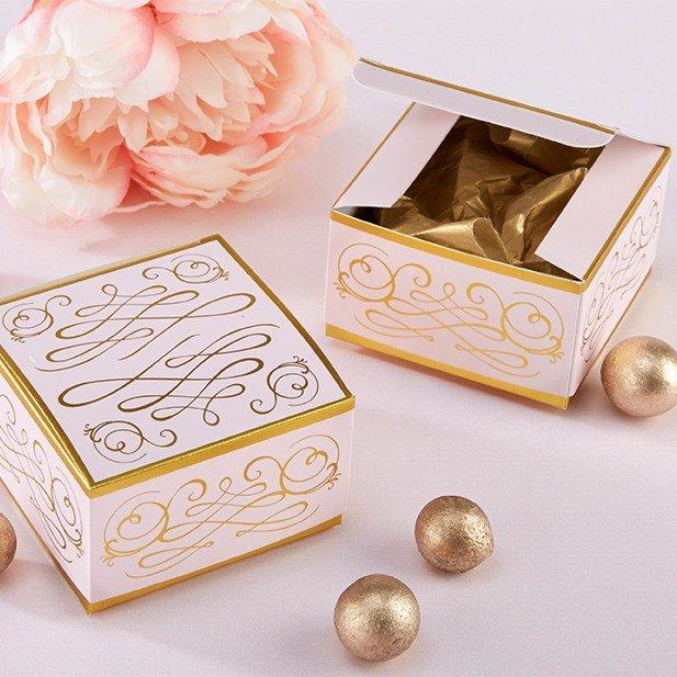 Romantic Square Wedding Favor Boxes