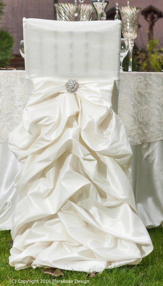 Ruffled Wedding Chair Cover