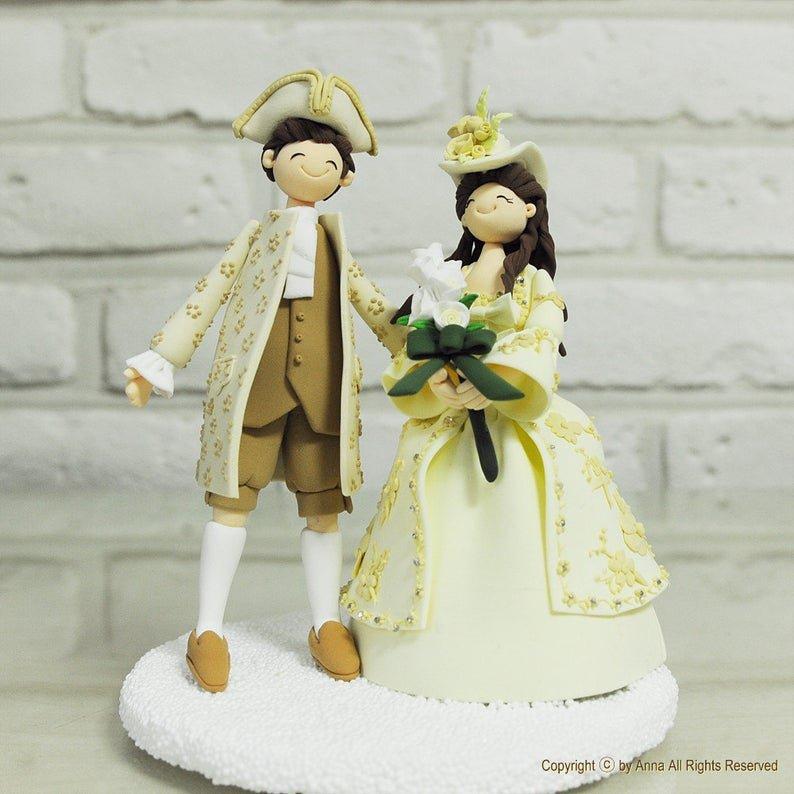 Baroque Couple Wedding Cake Topper