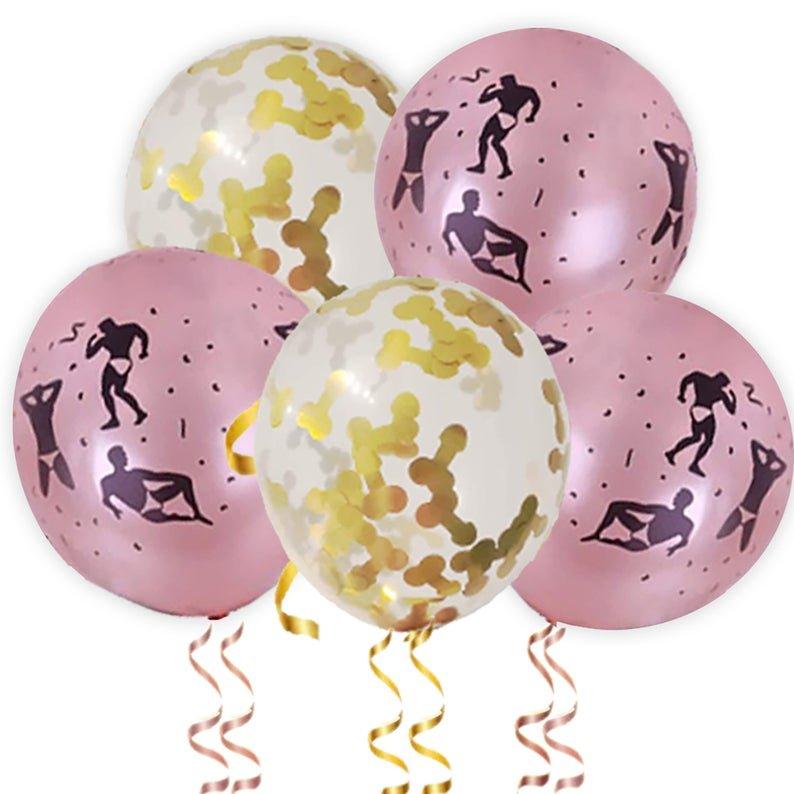 Bachelorette Party Naughty Balloon Decor Idea