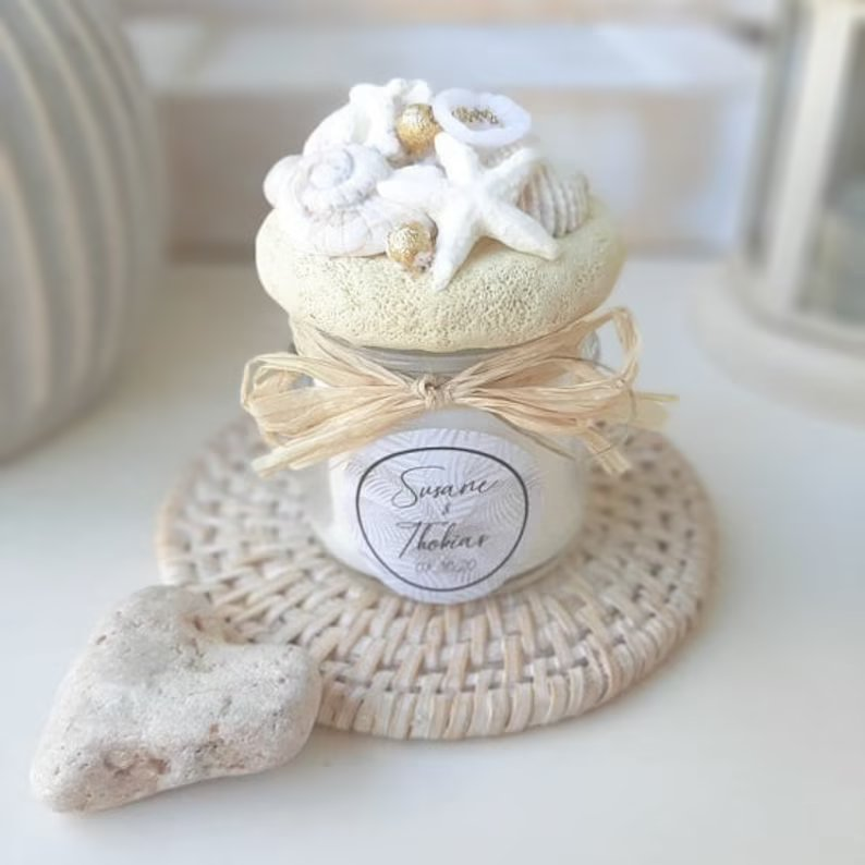 Beach Wedding Candle Favors