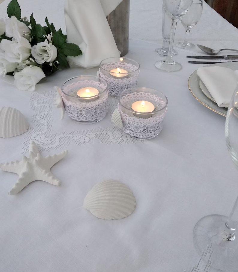 Beach Themed Wedding Candle Holders
