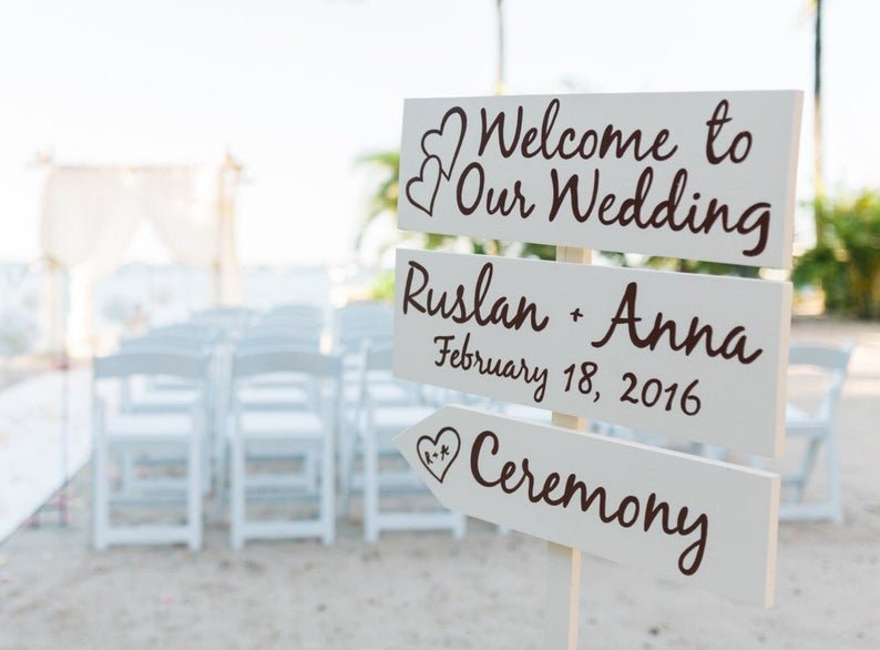 Directional Wedding Welcome Signs