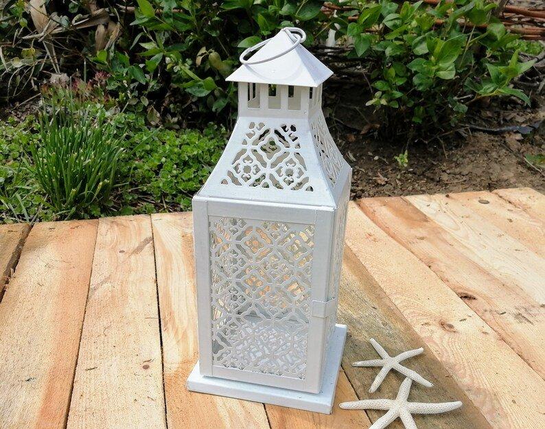 Beach-wedding-Lace-pattern Decorative Lantern