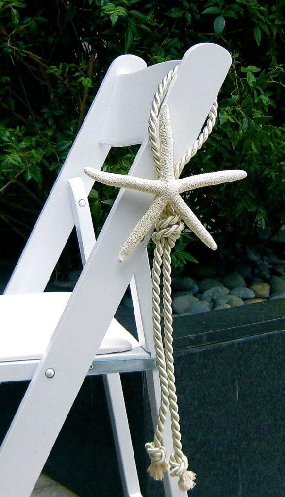 Beach Wedding Starfish Chair Decor
