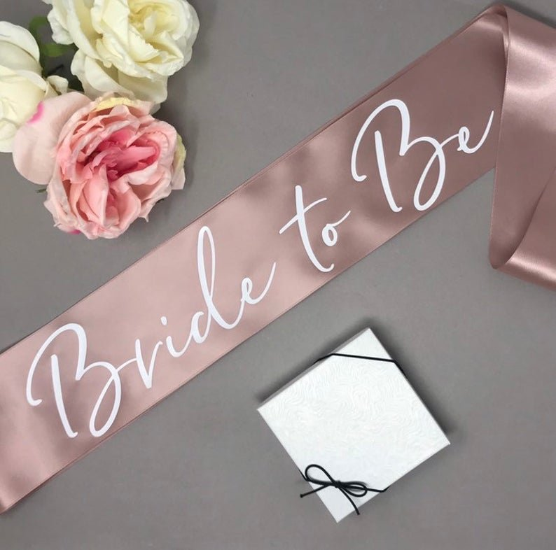 Rose Gold Bachelorette Party Bride-to-be-Sash