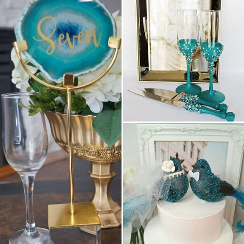 Shades Of Teal Wedding Color Theme