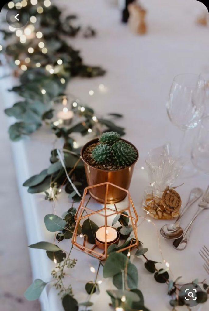 Fairy Lights Wedding Table Decor
