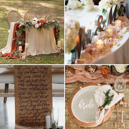 Lovely Sweetheart Table Decorations