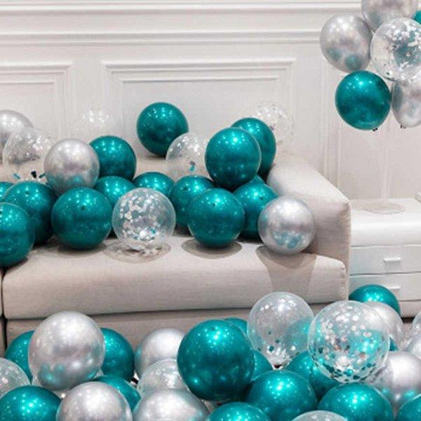 Teal Balloon Kit Wedding Decor Idea