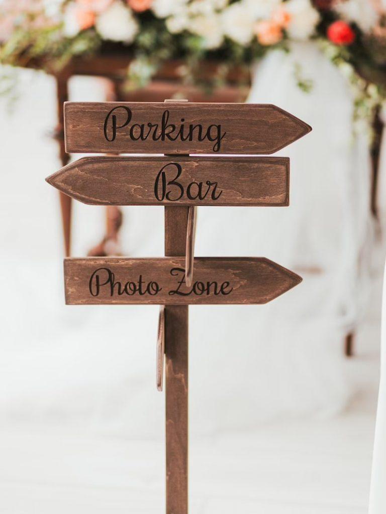 Custom Wedding Directional Signs