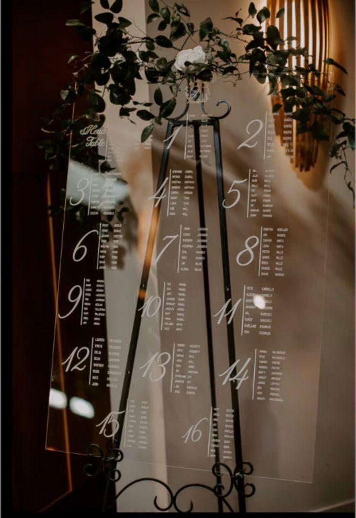 Acrylic Wedding Seating Chart