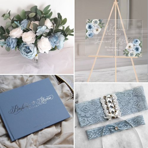 Dusty Blue & Silver Wedding Inspiration