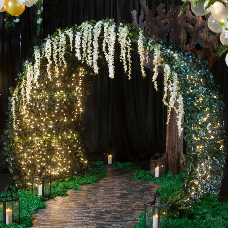 Enchanted Forest Ivy Tunnel Wedding Decor