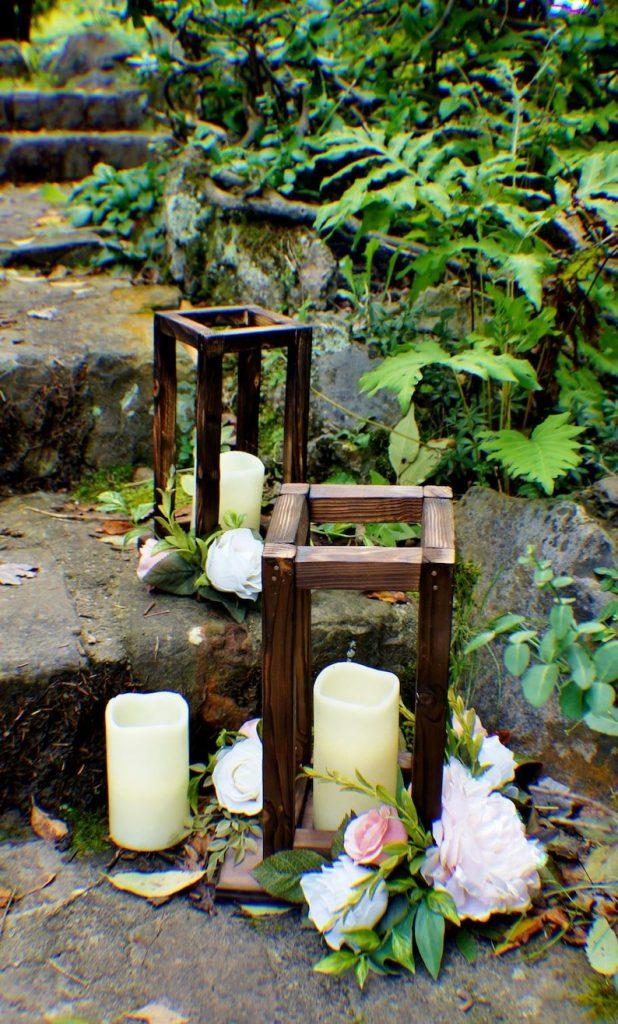 Reclaimed Wood Decorative Wedding Lanterns