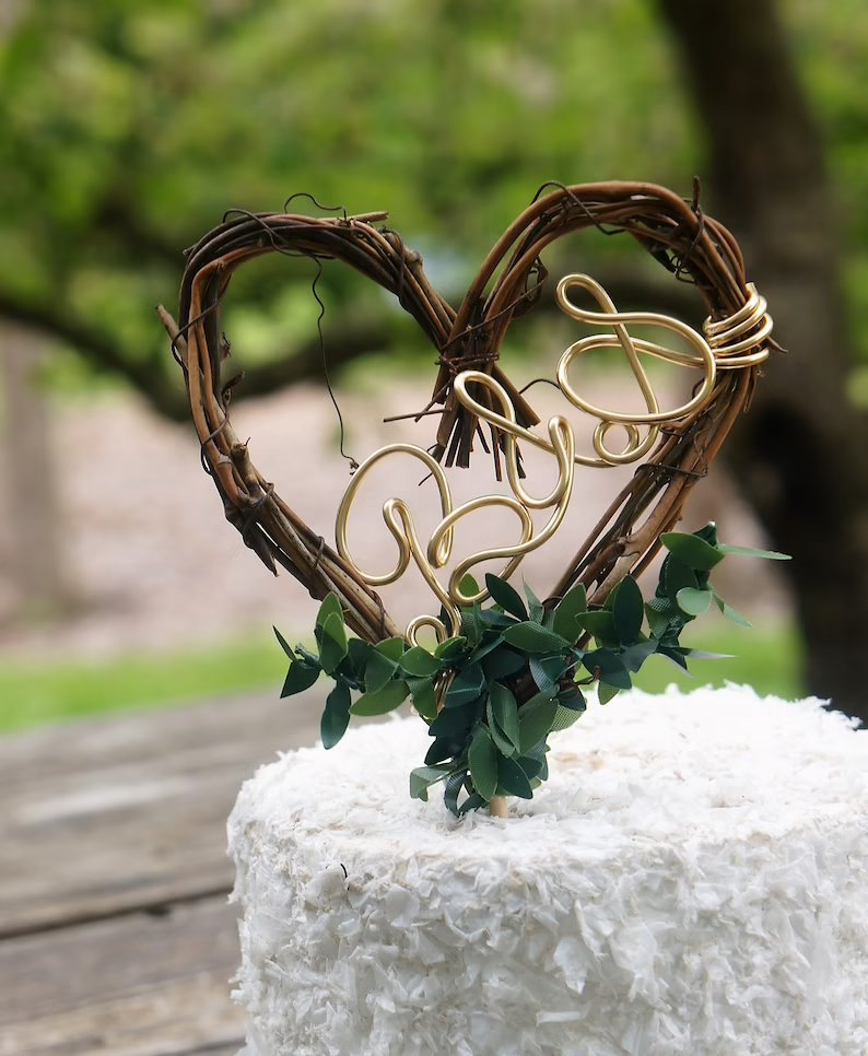 Enchanted Forest Themed Wedding cake Topper