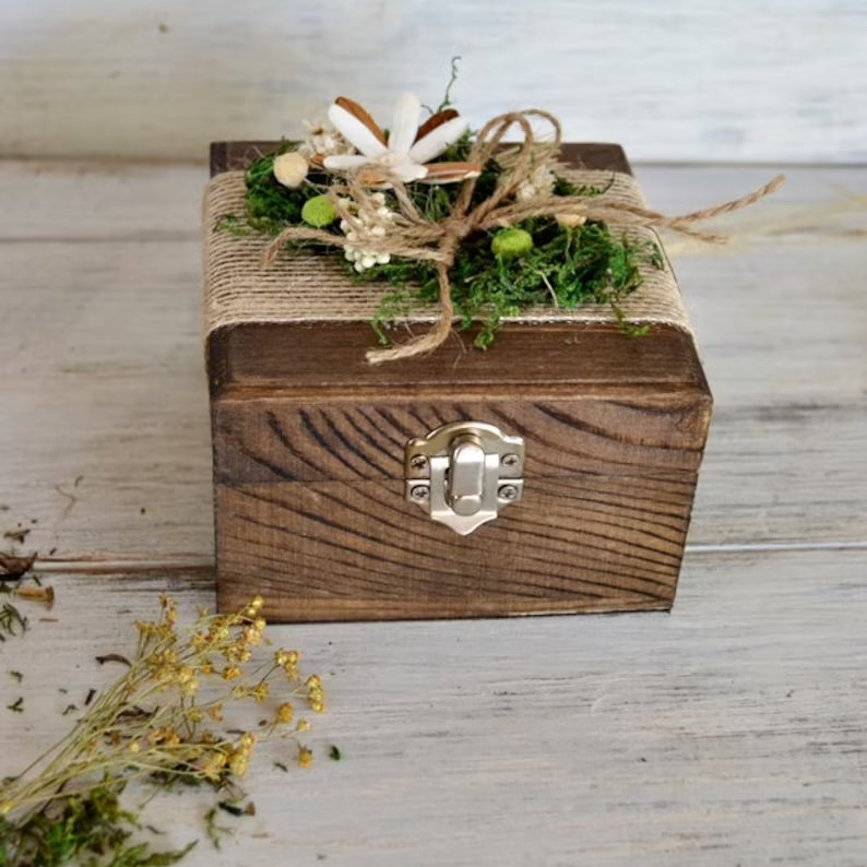 Enchanted Forest Wedding Ring Box