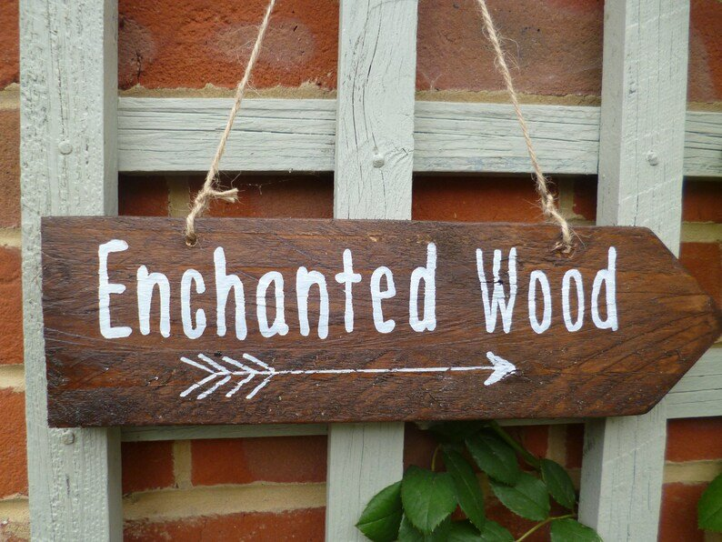 Enchanted Forest Directional Wedding Sign