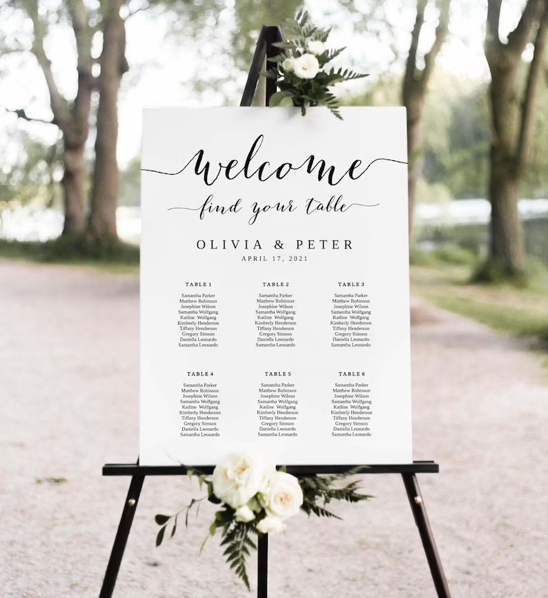 Wedding Seating Chart (Download Template)