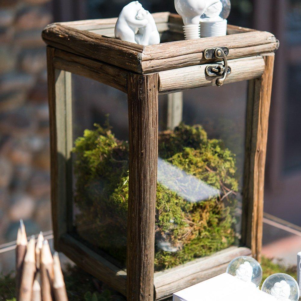 Wood & Glass Box Wedding Centerpiece